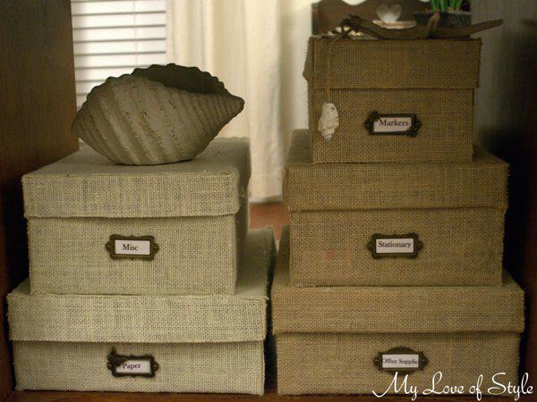 Burlap Storage Box Tutorial