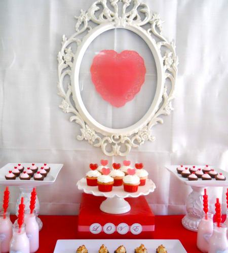 Red Pink & White Candy Buffet
