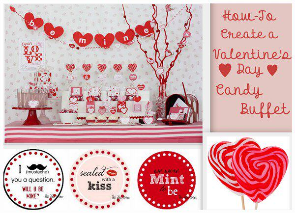Its Valentines Day Candy Buffet
