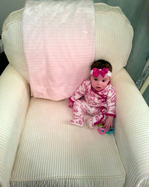 Baby Riley in Big Chair
