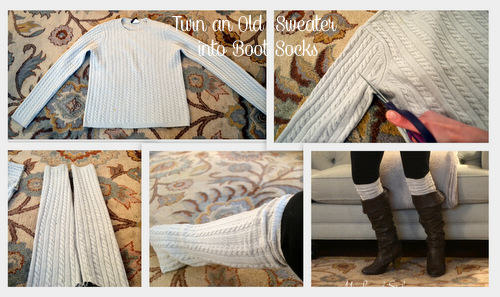 Easy DIY Boot Sock Tutorial