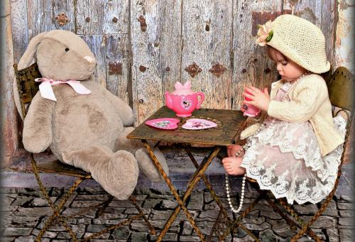 Having a Tea Party with Bunny