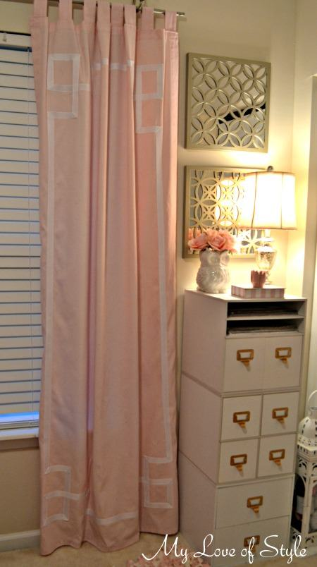DIY Greek Key Border Curtains