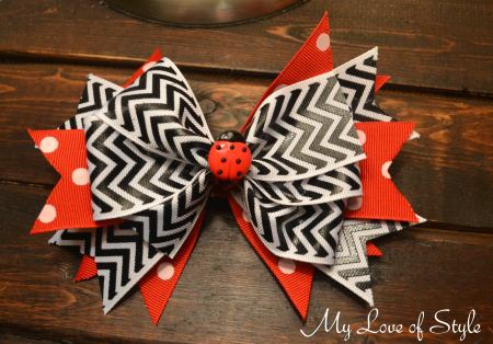 Layered Spike Boutique Hair Bow