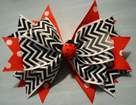 Layered Spike Boutique Hair Bow Tutorial