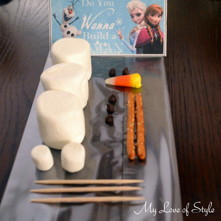 "Materials for ""Do You wanna build a snowman"" Favors"