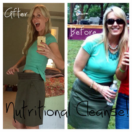 Nutritional Cleanse Before and After