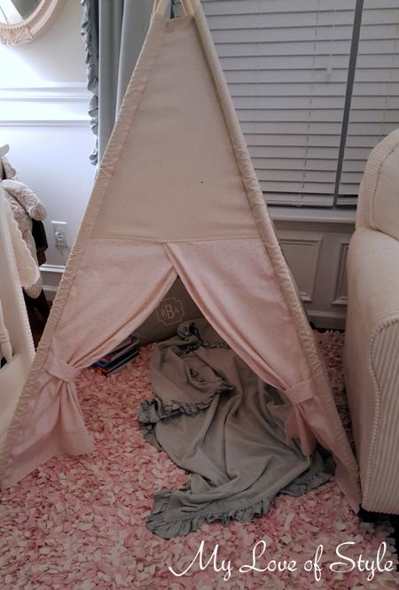 diy teepee before embellishments
