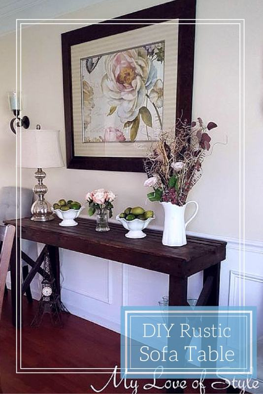 Diy Rustic Sofa Table My Love Of Style My Love Of Style