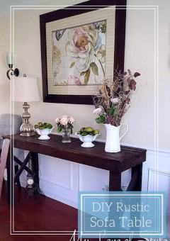 DIY Rustic Sofa Table Tutorial