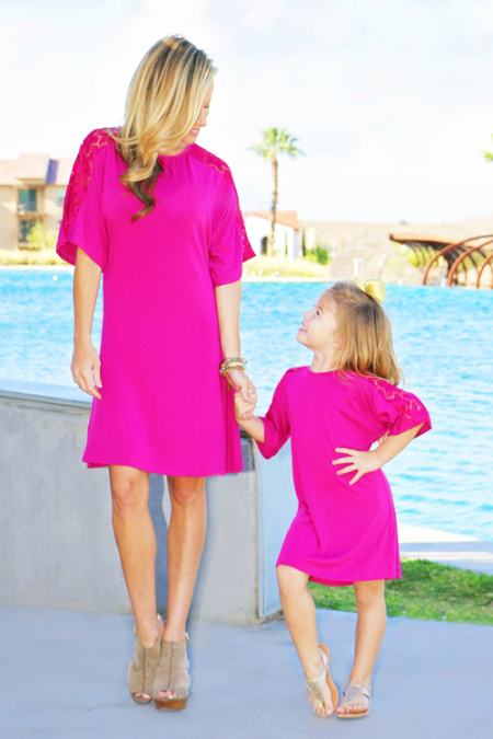 mommy and me lace shift dress