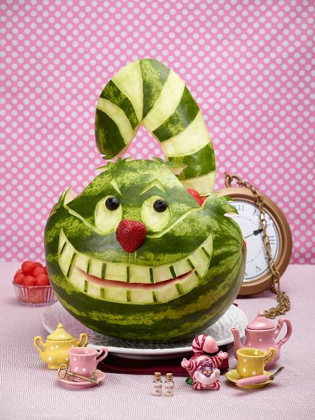 Chesire Cat Watermelon Carving