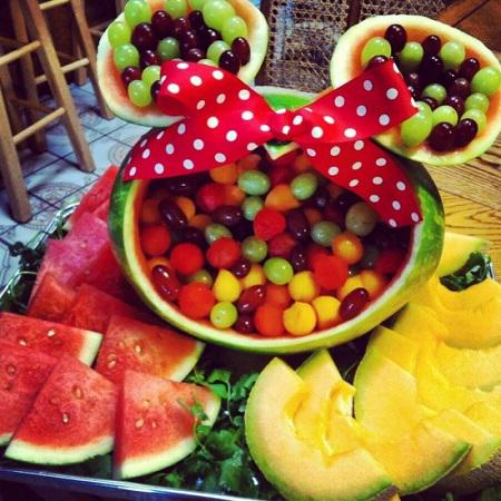 Minnie Mouse Watermelon Centerpiece