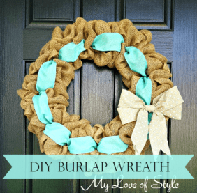 Super Easy DIY Burlap Wreath with Accent Ribbon