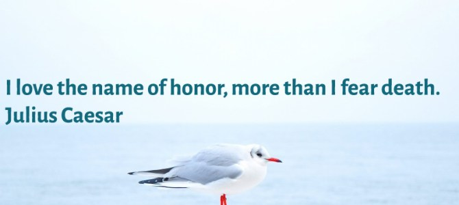 I love the name of honor, more than I fear death