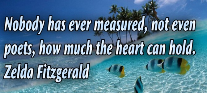 Nobody has ever measure how much heart can hold inside