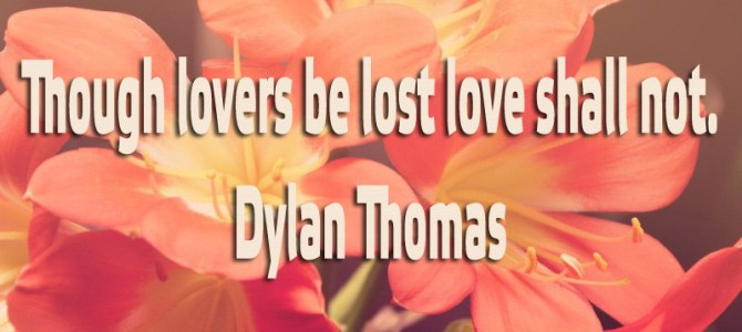 Though lovers be lost love shall not
