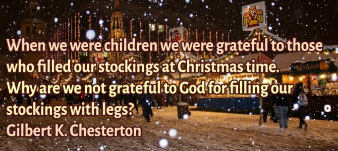 When we were children we were grateful to those who filled our stockings at Christmas