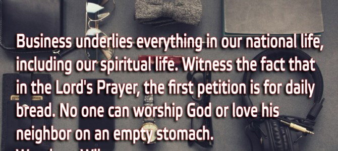 No one can worship God or love his neighbor on an empty stomach