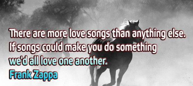There are more love songs than anything else