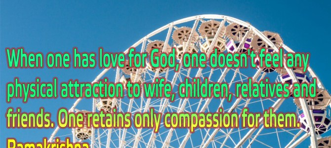 When you have love for God you don't feel any physical attraction