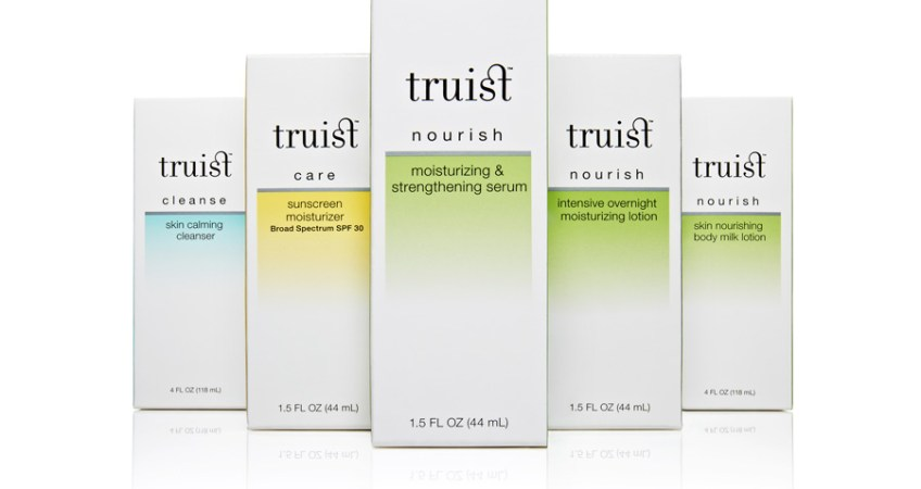 Brand identity and packaging for women's beauty line Truist.