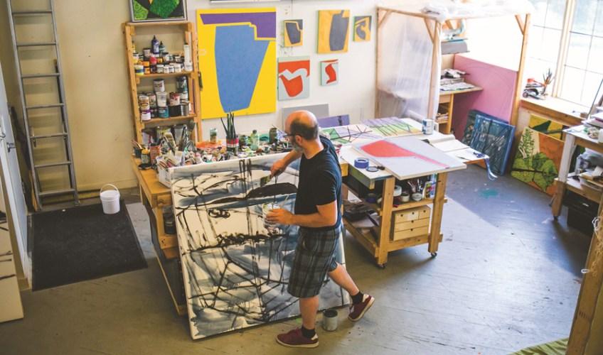 Richard Keen in studio