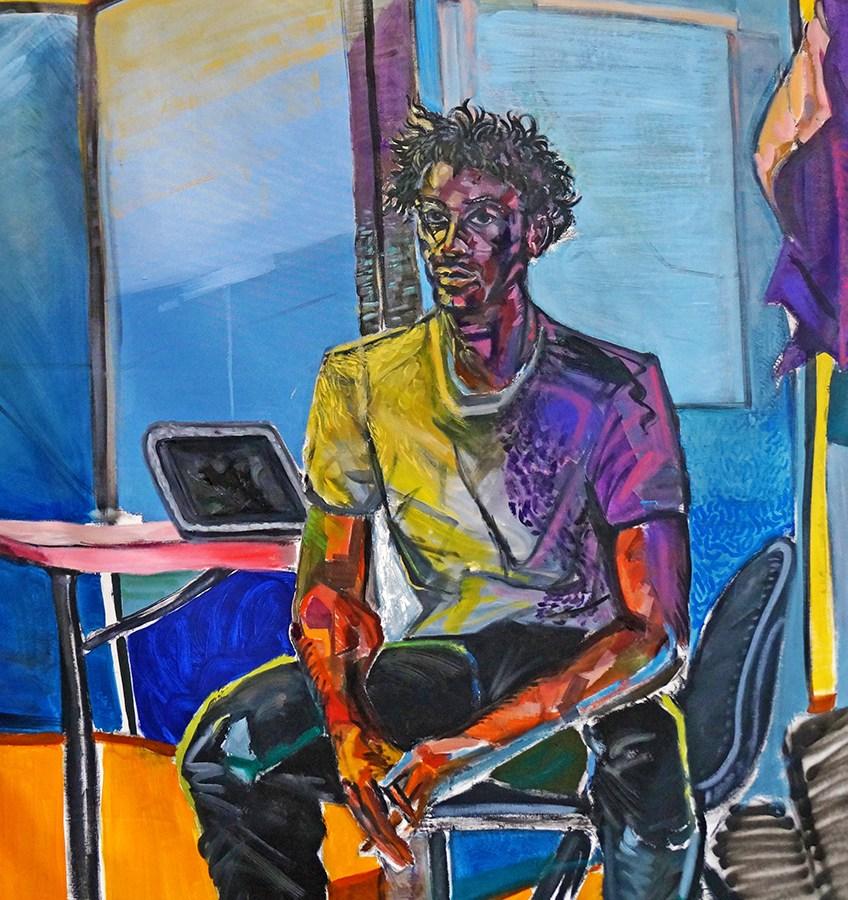 Nehemiah Cisneros, Nehemiah Self-Portrait, Kansas City Art Institute