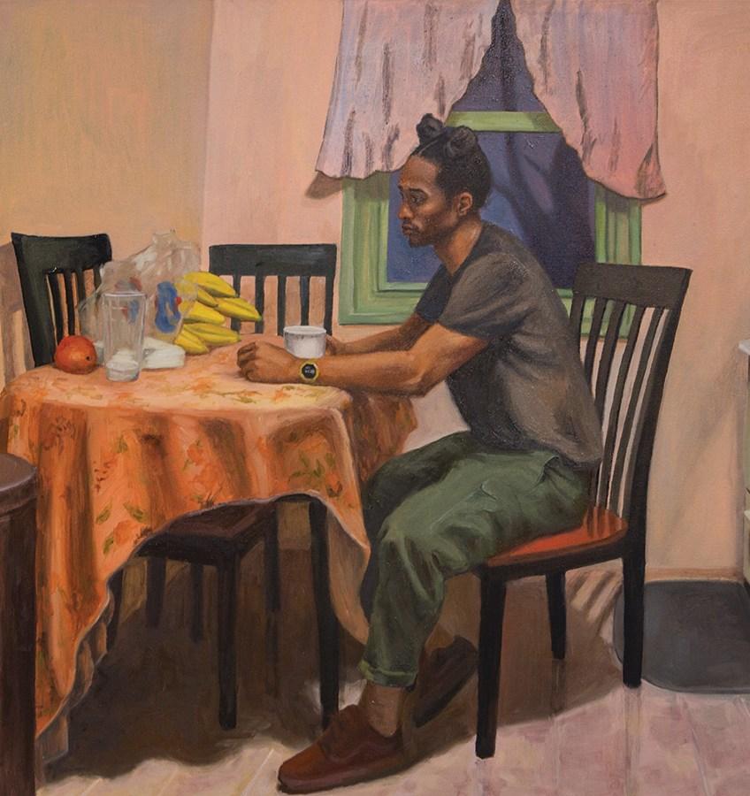 Raelis Vasquez, (BFA 2018) Even Inside, Oil On Canvas, School of the Art Institute of Chicago