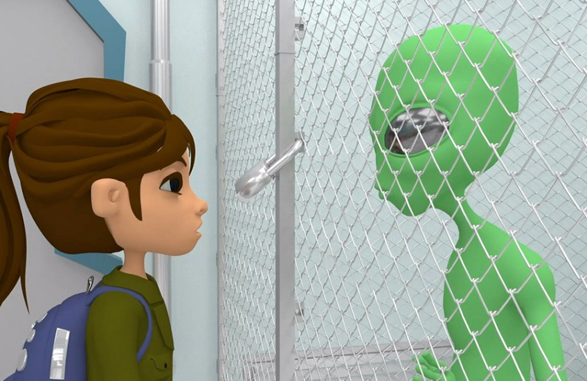 """Still from """"Alienated"""" Perri Phelps, Syracuse University, Computer Art and Animation"""