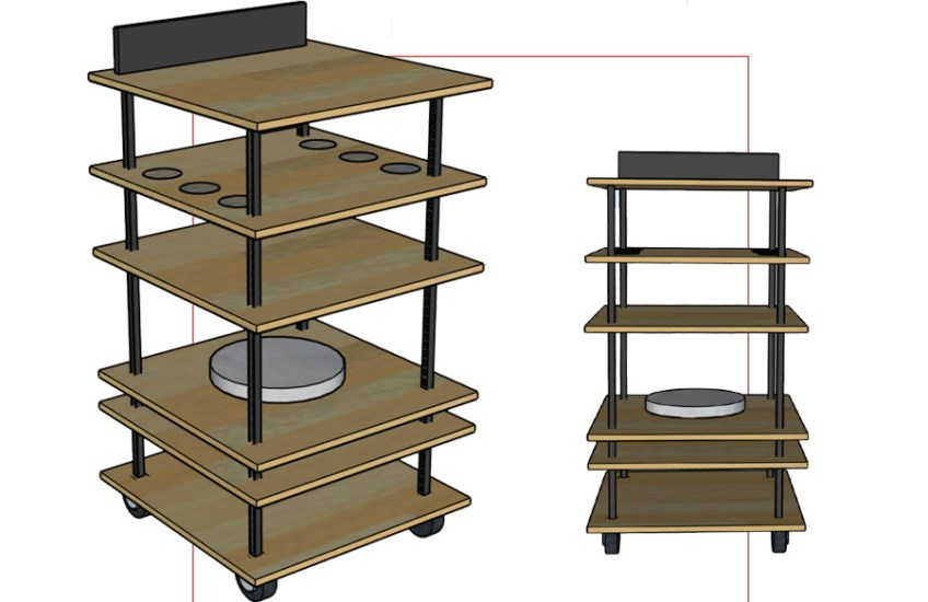 Bar Cart (excerpt from process book) Rose Colacino, Minneapolis College of Art and Design, Product Design