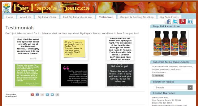 Website Customer Testimonials