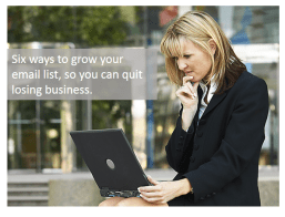Email List-Building Strategy