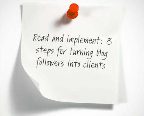 Turn blog followers into clients