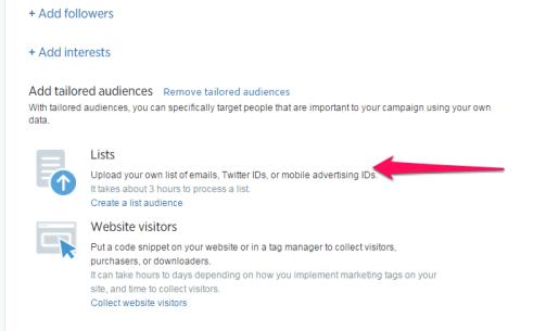 Create a custom audience on Twitter