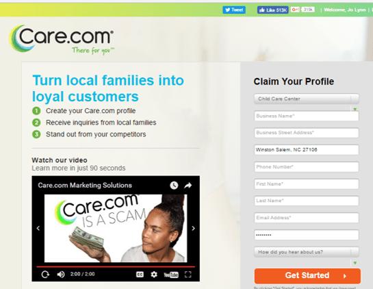 Care dot Com marketing video