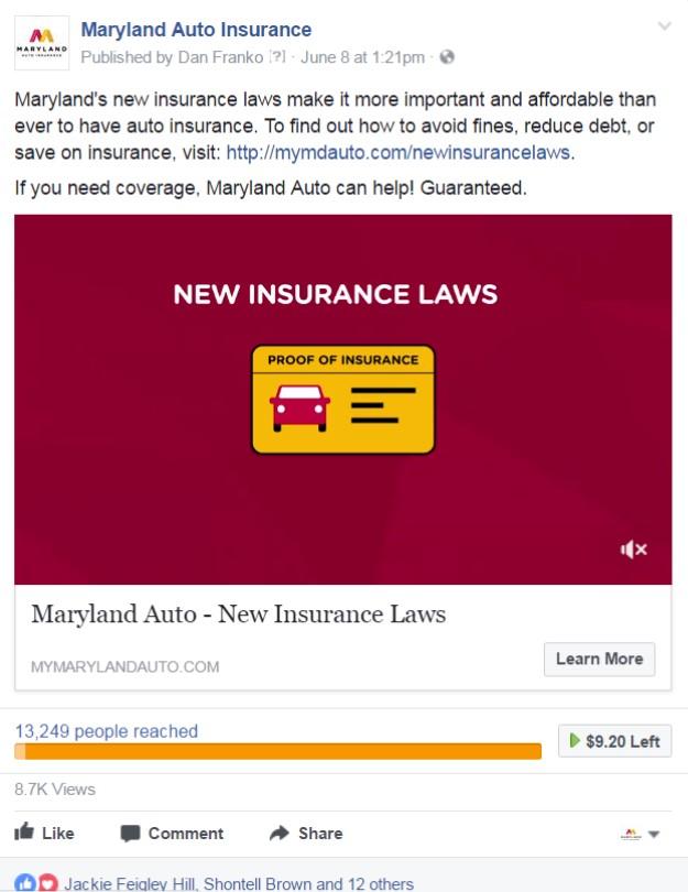 New Insurance Law Creative Maryland Auto Insurance