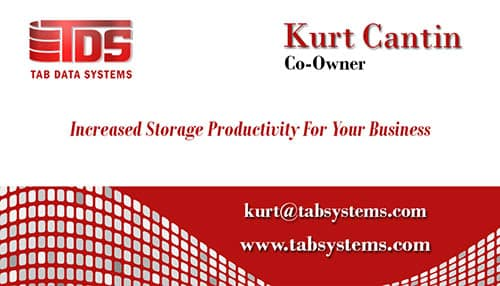 Tab Business Card Template Red Data Front - Copy