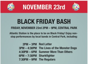 Jam Out at Black Friday Bash at Atlantic Station