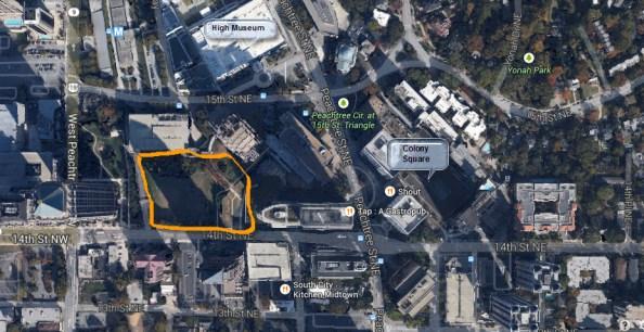 Symphony Hall Site 14th Street Midtown Atlanta