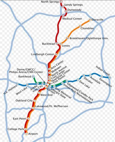 MARTA Atlanta Map