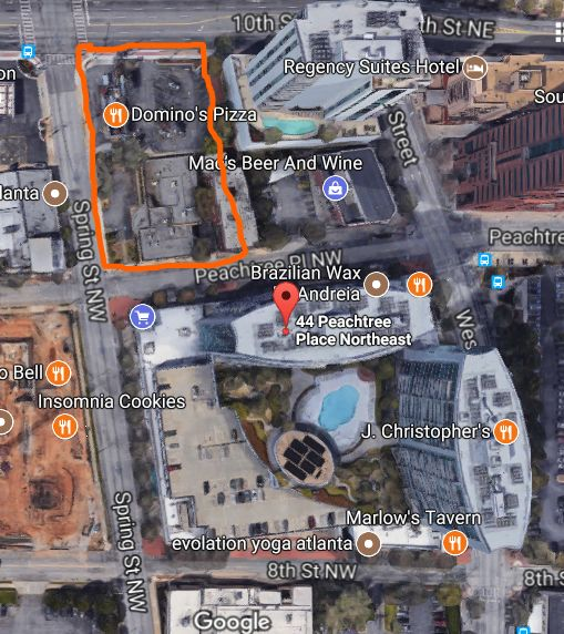 Map of The Mark at Atlanta Building Site