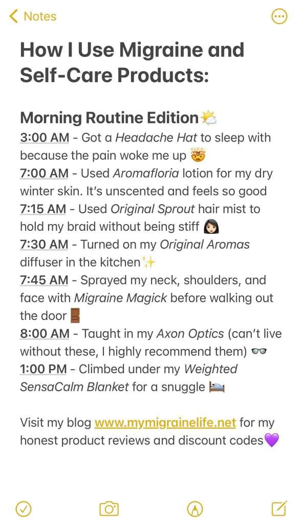 Migraine Morning Routine