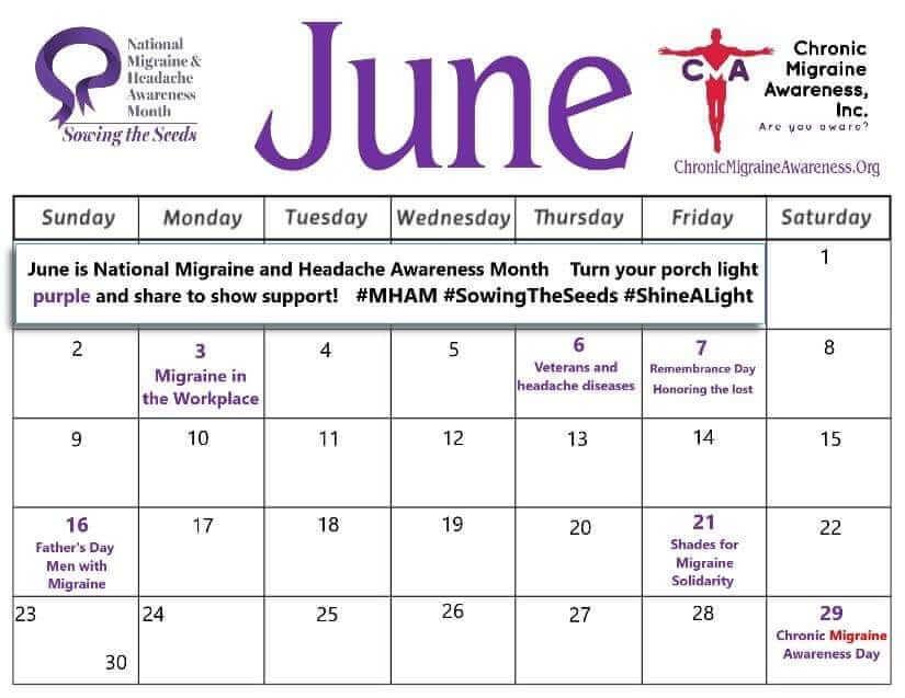 June CMA calendar