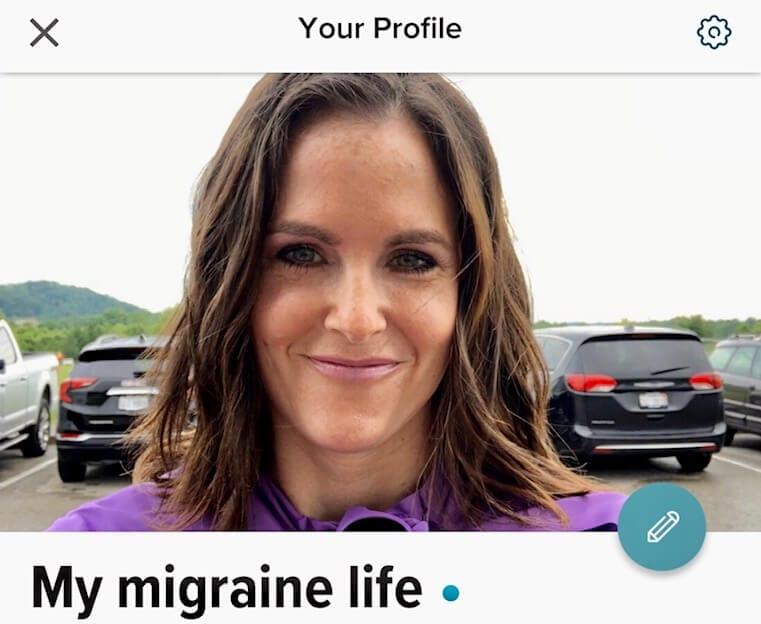 Healthline Migraine app profile