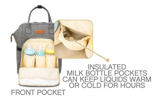 Pantheon Diaper Backpack front pocket