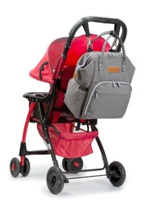 Pantheon Diaper Backpack includes stroller strap