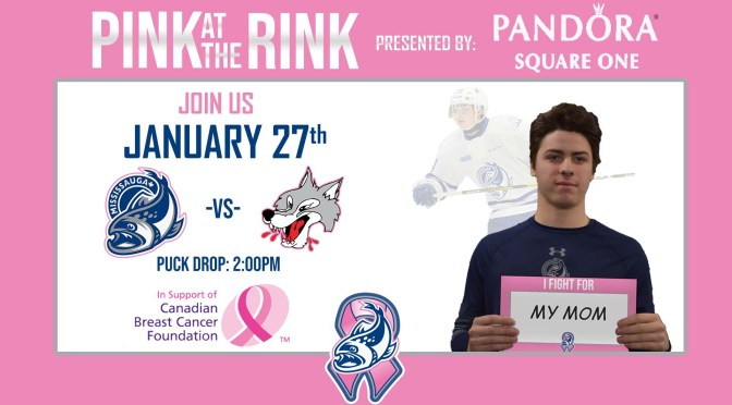 The Mississauga Steelheads host 7th annual Pink at the Rink game on Sunday January 27th