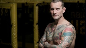 CM Punk, photographed at Roufusport Mixed Martial Arts Academy in Milwaukee. Photo by Sara Stathas