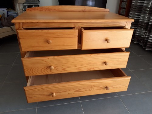 commode en pin massif occasion